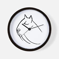 Bouvier Dog Head Sketch Wall Clock