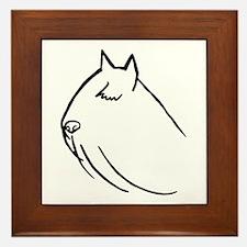 Bouvier Dog Head Sketch Framed Tile