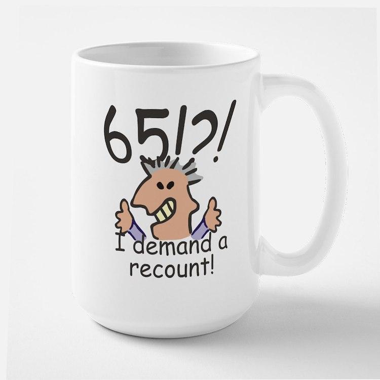 Recount 65th Birthday Mugs