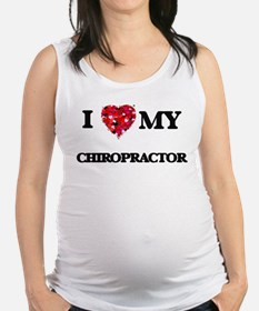 I love my Chiropractor hearts d Maternity Tank Top