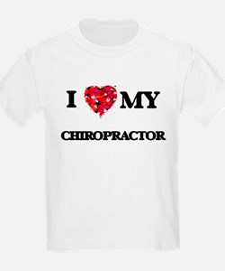I love my Chiropractor hearts design T-Shirt
