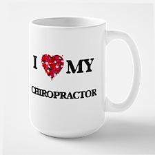 I love my Chiropractor hearts design Mugs