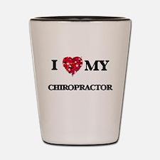 I love my Chiropractor hearts design Shot Glass