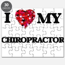 I love my Chiropractor hearts design Puzzle