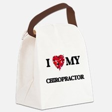 I love my Chiropractor hearts des Canvas Lunch Bag