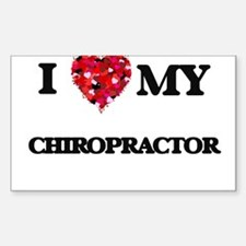 I love my Chiropractor hearts design Decal