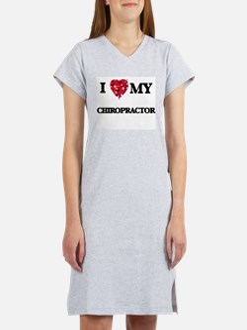 I love my Chiropractor hearts d Women's Nightshirt