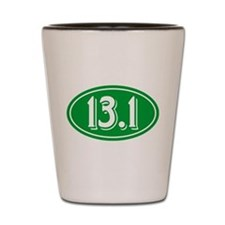 13.1 Half Marathon Oval Green Shot Glass