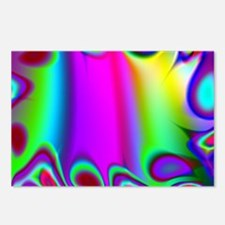 Rainbow Fractal Postcards (Package of 8)