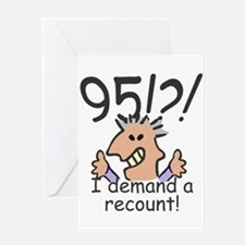 Recount 95th Birthday Greeting Cards