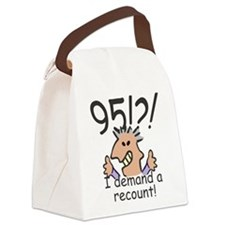 Recount 95th Birthday Canvas Lunch Bag