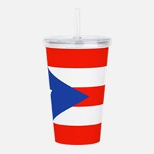 Puerto Rican Boricua F Acrylic Double-wall Tumbler