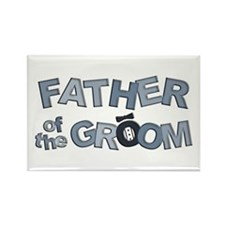 BP Letters Father of Groom Rectangle Magnet
