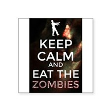 Keep Calm and Eat the Zombies Sticker