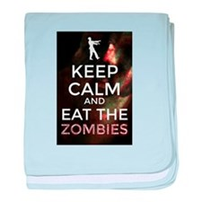 Keep Calm and Eat the Zombies baby blanket