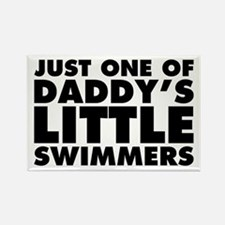 Daddy's Little Swimmers Rectangle Magnet