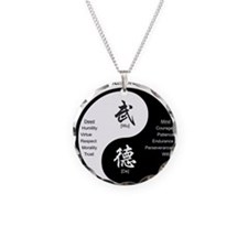 Funny Martial arts Necklace Circle Charm