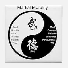 Cute Martial arts Tile Coaster