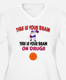 HOCKEY THIS IS YOUR BRAIN Plus Size T-Shirt