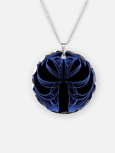 Black and Blue Fractal Necklace