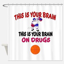 HOCKEY THIS IS YOUR BRAIN Shower Curtain