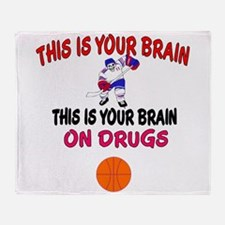 HOCKEY THIS IS YOUR BRAIN Throw Blanket