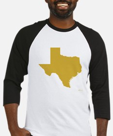 Gold Texas Outline Baseball Jersey