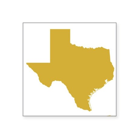 Wedding anniversary gifts 50th wedding anniversary gifts gold - Gold Texas Outline Square Sticker 3 Quot X 3 Quot By Gettexas