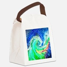 Waves Canvas Lunch Bag