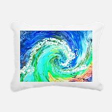 Waves Rectangular Canvas Pillow