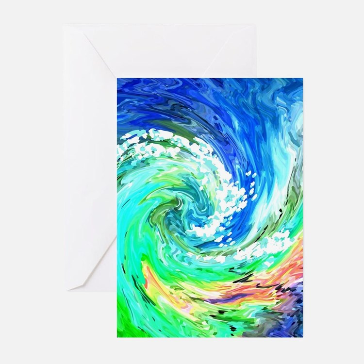 Waves Greeting Cards (Pk of 20)