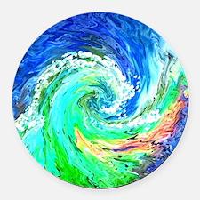 Waves Round Car Magnet
