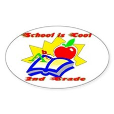 2nd Grade School is Cool Oval Decal