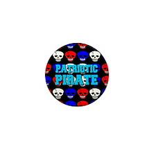 "Patriotic RWB Pirate ""White-X Mini Button"