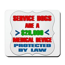 SERVICE DOG Mousepad