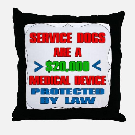 SERVICE DOG Throw Pillow