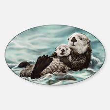 Mom & Pup Sticker (Oval)