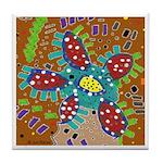 Kool Flower Tile Coaster