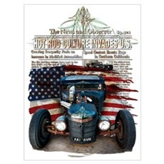 Hot Rod Invasion Canvas Art