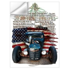 Hot Rod Invasion Wall Decal