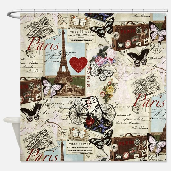 Paris Memories Shower Curtain