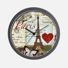 Paris Memories Wall Clock