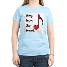 Sing from the Heart Women's Pink T-Shirt