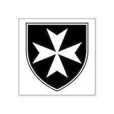 "Knights Hospitaller Square Sticker 3"" x 3"""