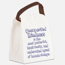 UNEXPECTED KINDNESS Canvas Lunch Bag