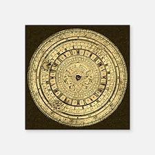 "old gutenberg clock Square Sticker 3"" x 3"""