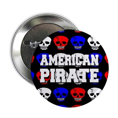 """American Pirate 2.25"""" Button (100 pack)"""