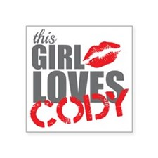 """this girl loves cody Square Sticker 3"""" x 3"""""""