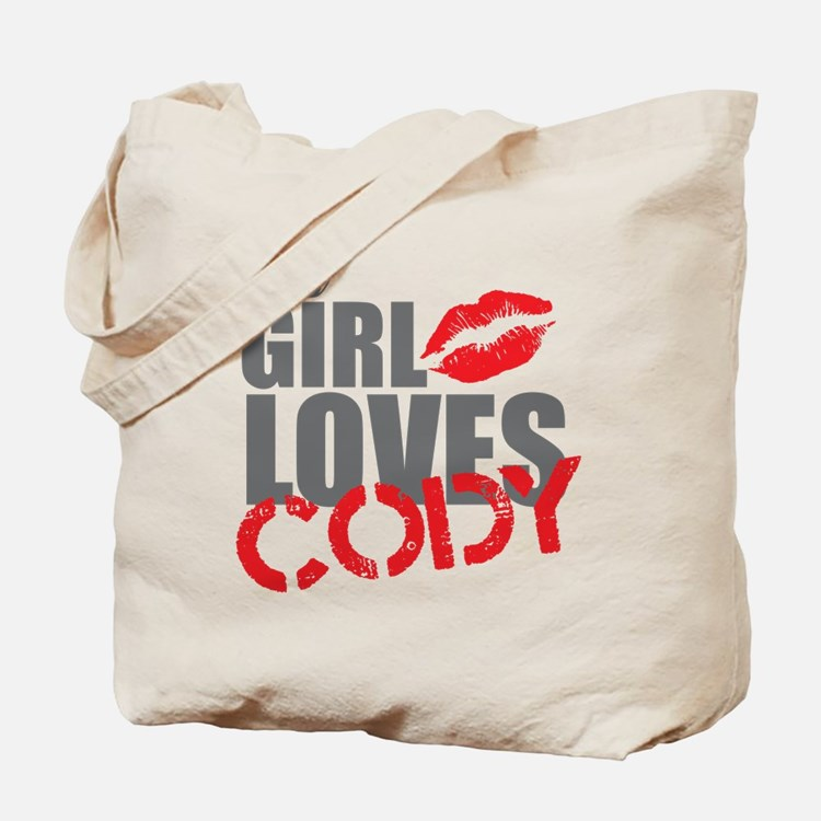 this girl loves cody Tote Bag