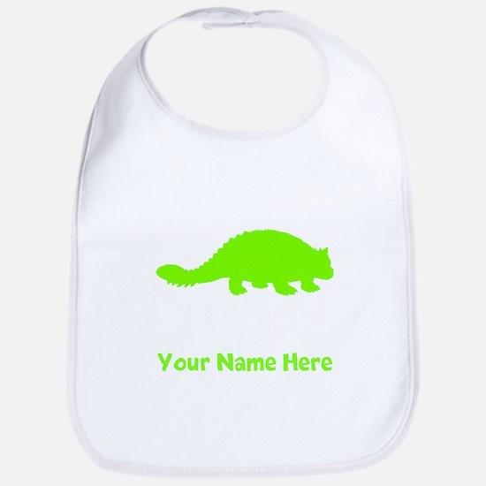 Ankylosaurus Silhouette (Green) Bib